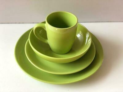 Ceramic dinner set 16 piece with 4bowls,4sideplates, 4mugs, 4dinner plates-k12