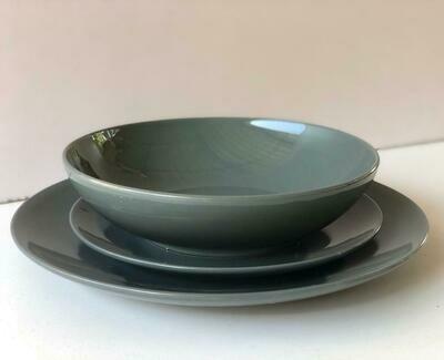 Ceramic dinner set 18 piece with 6bowls,6sideplates,  6dinner plates-K11