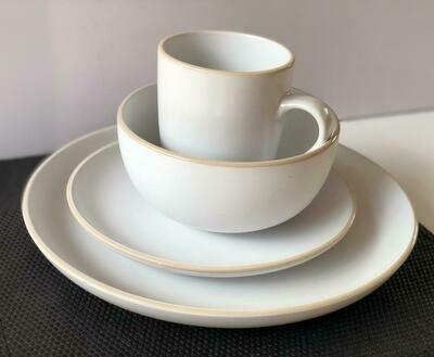 Ceramic dinner set 16 piece with 4bowls,4sideplates, 4mugs, 4dinner plates -k16 -k3