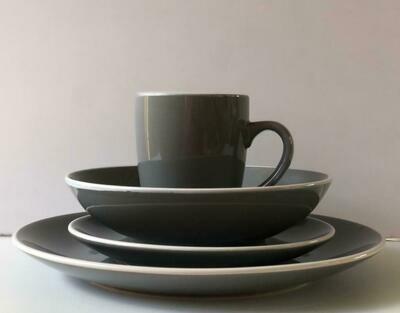 Ceramic dinner set 16 piece with 4bowls,4sideplates, 4mugs, 4dinner plates -K28