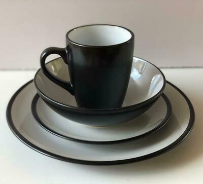 Ceramic dinner set 16 piece with 4bowls,4sideplates, 4mugs, 4dinner plates -K27