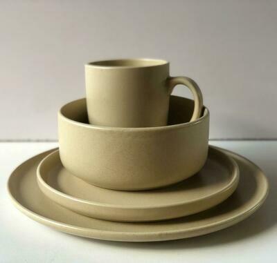 Ceramic dinner set 16 piece with 4bowls,4sideplates, 4mugs, 4dinner plates-K23