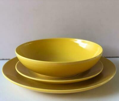 Ceramic dinner set 18 piece with 6bowls,6sideplates, 6dinner plates K46