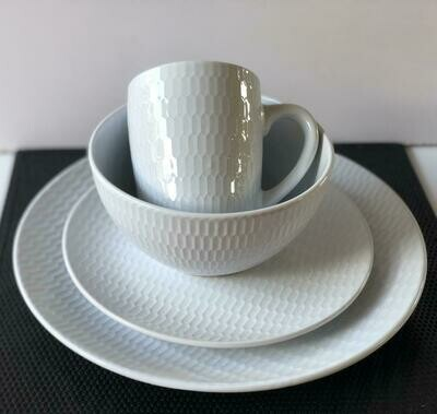 Ceramic dinner set 16 piece with 4bowls,4sideplates, 4mugs, 4dinner plates K-40