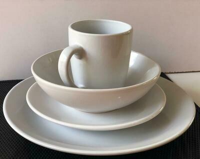 Ceramic dinner set 16 piece with 4bowls,4sideplates, 4mugs, 4dinner plates-k30