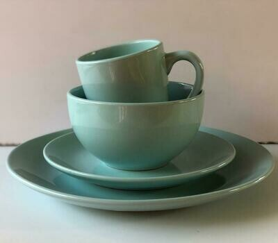 Ceramic dinner set 16 piece with 4bowls,4sideplates, 4mugs, 4dinner plates K36