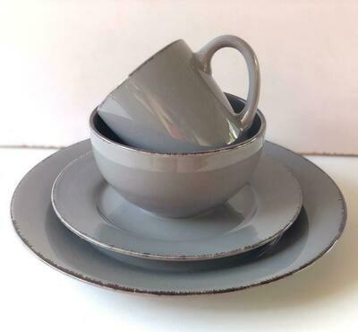 Ceramic dinner set 16 piece with 4bowls,4sideplates, 4mugs, 4dinner plates K17