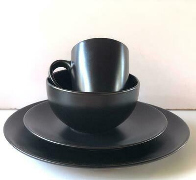 Ceramic dinner set 16 piece with 4bowls,4sideplates, 4mugs, 4dinner plates K44