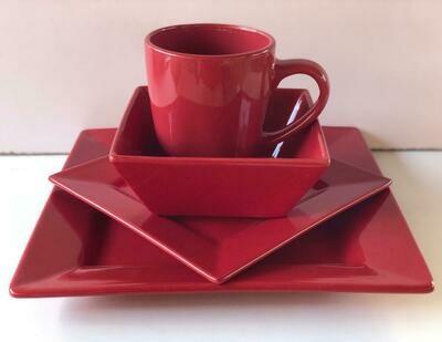 Ceramic dinner set 16 piece with 4bowls,4sideplates, 4mugs, 4dinner plates k55
