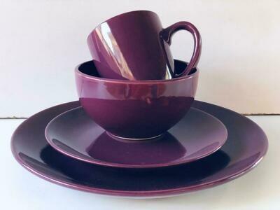 Ceramic dinner set 16 piece with 4bowls,4sideplates, 4mugs, 4dinner plates K22