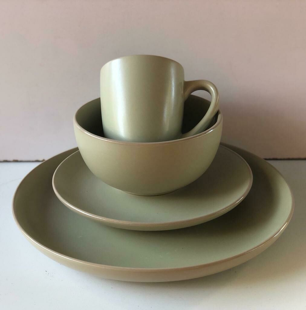 Ceramic dinner set 16 piece with 4bowls,4sideplates, 4mugs, 4dinner plates-K4