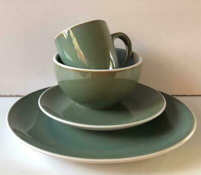 Ceramic dinner set 16 piece with 4bowls,4sideplates, 4mugs, 4dinner plates K42