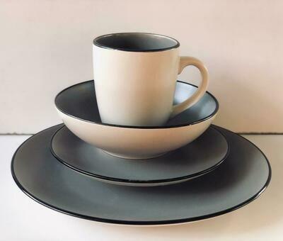 Ceramic dinner set 16 piece with 4bowls,4sideplates, 4mugs, 4dinner plates k45