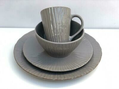 Ceramic dinner set 16 piece with 4bowls,4sideplates,4bowls,4dinner plates -K18