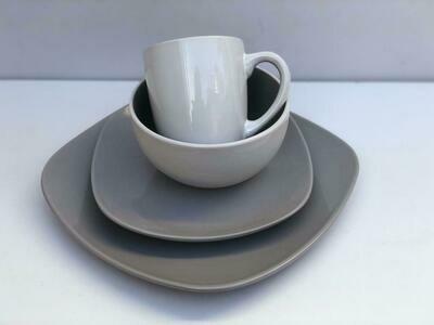 Ceramic dinner set 16 piece with 4bowls,4sideplates,4bowls,4dinner plates -K57