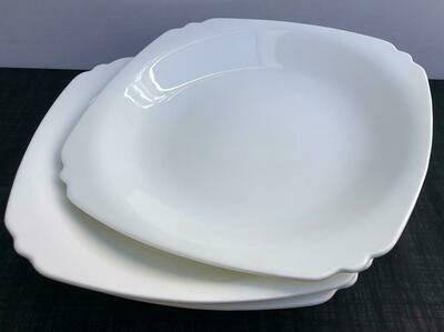 Porcelain 4 piece set ,Serving Platter White Serving Tray e -A35 12