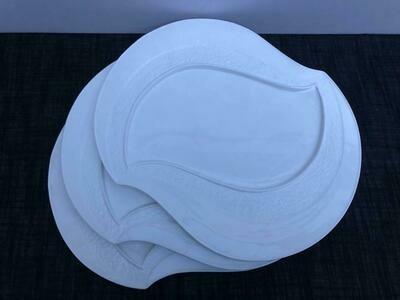 Dessert Plates 3piece set Ceramic White Serving Plates/Appetizer/Salad Plate- Dinnerware Dishes Set for Snacks, Side Dishes 12