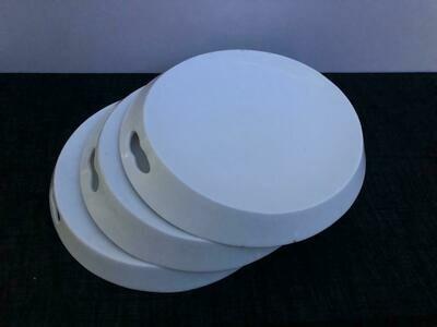 Ceramic round Platter plate 3 piece set, Decorative Center piece 12