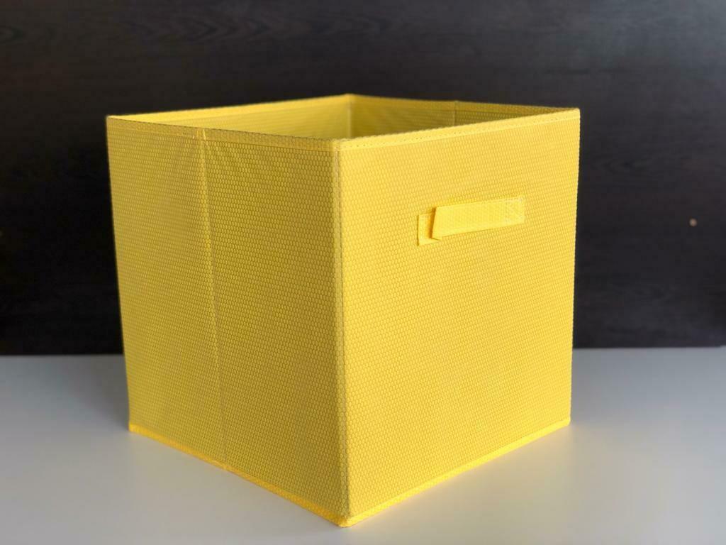 Foldable Storage Box Basket/laundryWardrobe Shelf Household, Clothes, Toys,Books, Organizer with Handle Fabric Natural Linen.