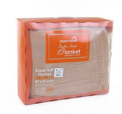 Mintra Microfiber double sided blanket super soft 180x220cm (6x6bed)