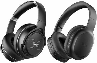 Tribit XFree Go Bluetooth Headphones Over Ear with Deep Bass USB Lightening Fast Charge and Tribit QuietPlus 50 Active Noise Cancelling Bluetooth Headphones Built-in CVC8.0 Mic
