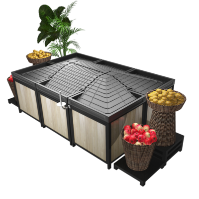 Produce display vegetable fruit display rack stand for Supermarket vegetable store