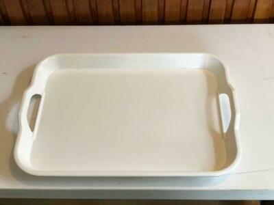 Melamine white Food Serving trays 38cm by 28cm
