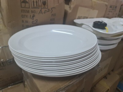 Melamine large oval serving plates 13 inch long (set of 6 plates)