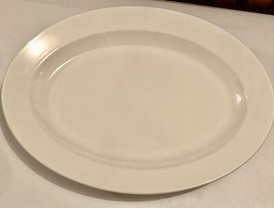 Melamine white flat plates 3 pcs set