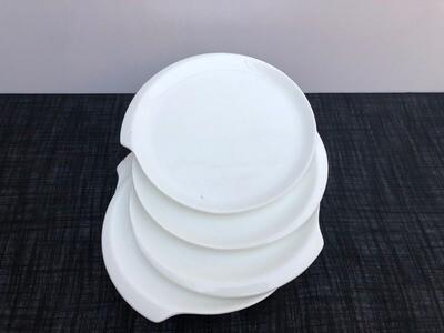 Ceramic dessert plates 7.9 inch 4 pcs set