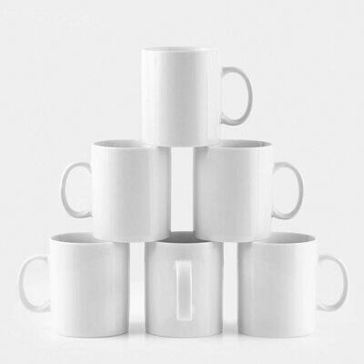 wholesale White Mug ,for Coffee, Tea, Chocolate or Latte- Set of 6, 11oz, Sublimation Mug ,The mug can be fully imprinted with monogram, logo or any images on the surface branding mug
