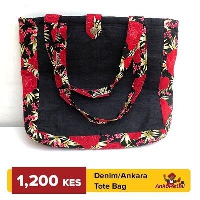 Denim Ankara Tote bag
