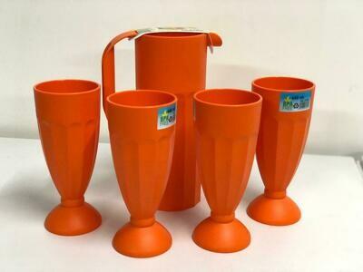 Mintra lemonade juice water set  4 tumblers, pitcher jug unbreakable plastic