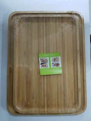 Bamboo charcuterie board  food tray Rectangular medium. Breakfast board 24X36cm