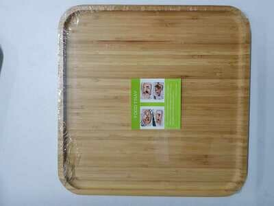 Bamboo charcuterie board food tray Square medium 30X30cm breakfast cheese tray