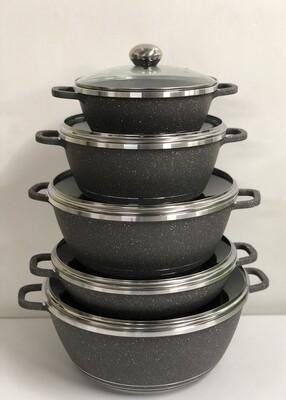Bosch 10pc Cooking Set, Granite heavy duty cooking pots set