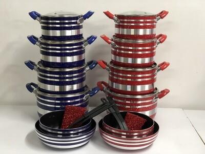 Sungura non stick cooking pots set 10pcs