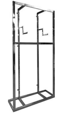 Wall mount display set chrome
