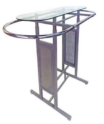 Display stand with extendable rod+glass top OT0025