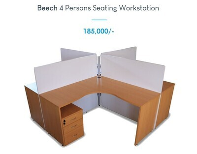 Beach 4 persons seating workstation
