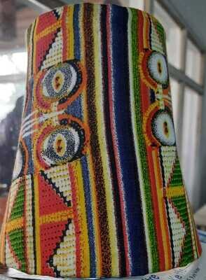 Maasai art themed lamp shades by Maasai accents-Half Cone shape
