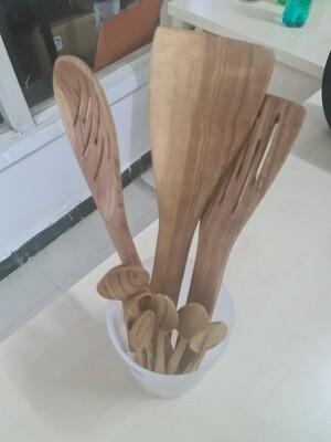 Wooden kitchen spoons 9pcs set