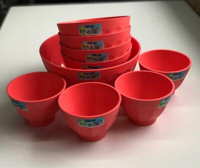 Mintra Bowl Set 4pc 250ml,4pcs 750ml,1pc 1.8ml