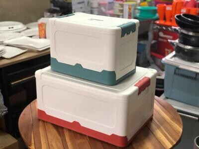 Foldable Plastic Storage Box  Set,20L & 40L, dry ice picnic storage Store/Home Storage