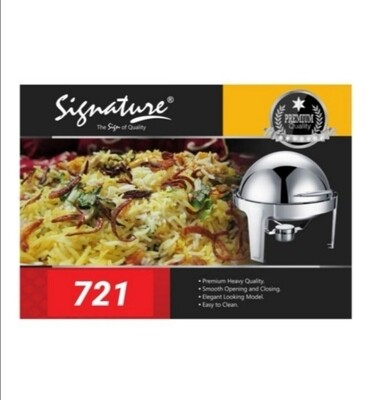 Signature 6L Stainless chafing dish with glass window