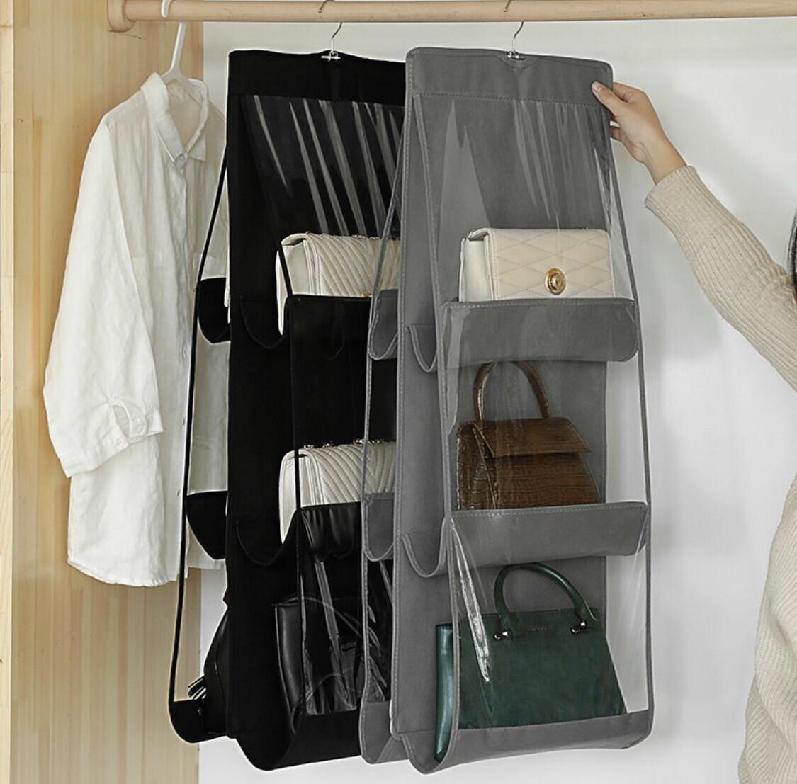Handbag Storage Organizer With 6 Compartments