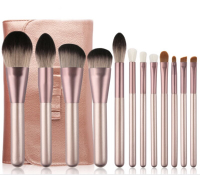 Professional Make Up Brushes 12pcs With Leather Casing