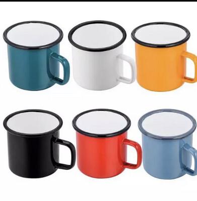 Enamel Mug Colored Camping Mug 330ml