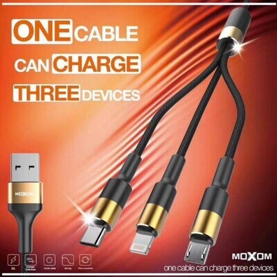 MOXOM MX-CC53 3 in 1 Charging Cable