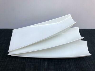 Porcelain  1 piece ,Serving Platter White Serving Tray Decorative Centerpiece -A15 15.5
